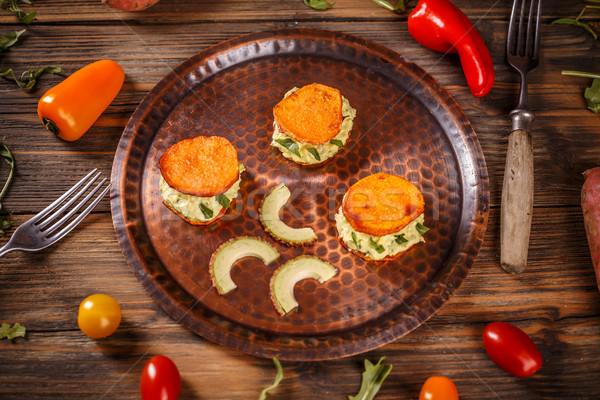 自家製 前菜 アボカド クリーム サツマイモ トースト ストックフォト © grafvision