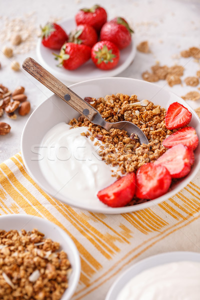 Granola baked with nuts and honey Stock photo © grafvision