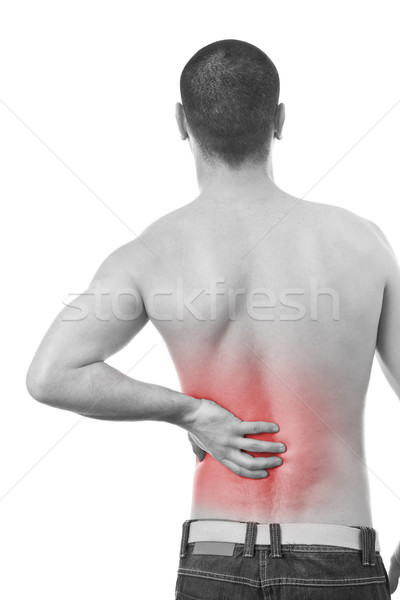 man having a back pain Stock photo © grafvision