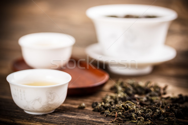 White gaiwan Stock photo © grafvision