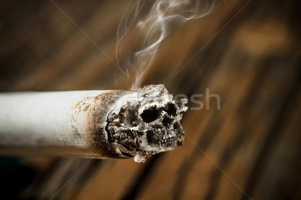 Cigarro cinza crânio saúde ruim perigoso Foto stock © grafvision