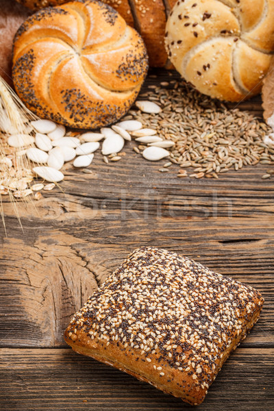 Bun topped with sesame seeds Stock photo © grafvision