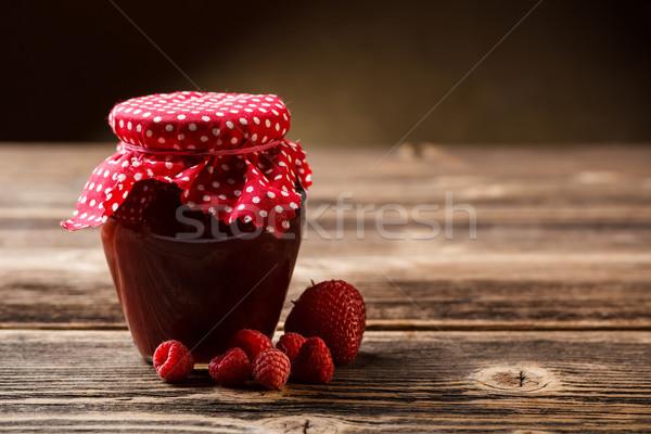 Jar with jam Stock photo © grafvision