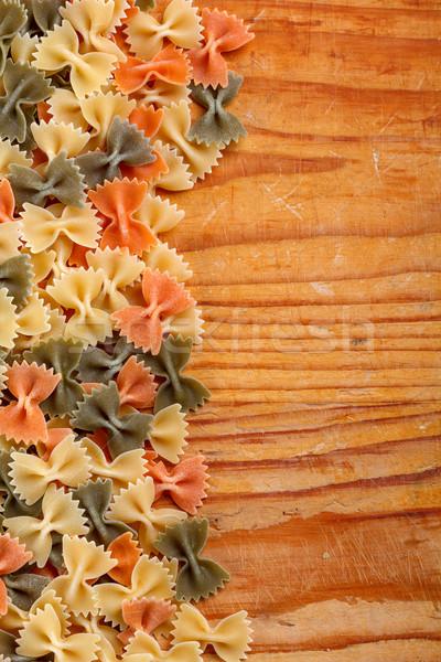 Uncooked italian pasta Stock photo © grafvision