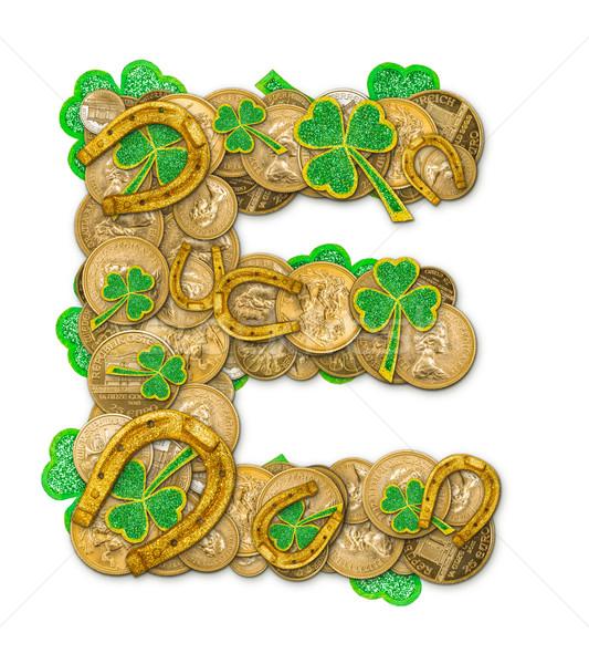 Stock photo: St. Patricks Day holiday letter E