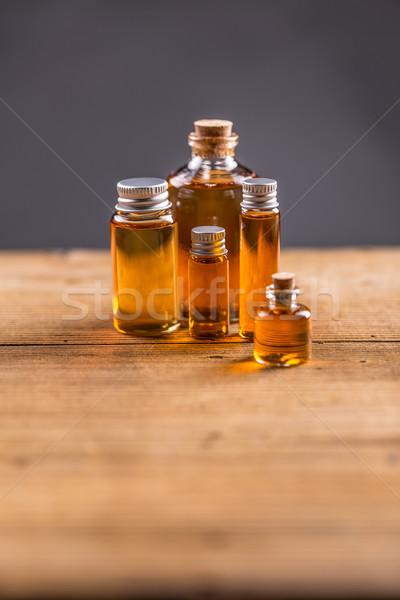 Différent bouteilles verre fond médecine Photo stock © grafvision