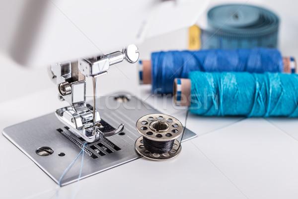 подробность швейные машины моде промышленности машина ногу Сток-фото © grafvision