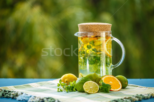 Stock photo: Iinfused water for detox