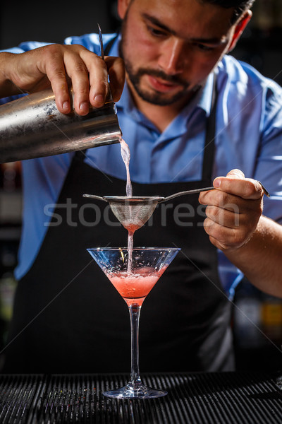 Expert barman is making cocktail Stock photo © grafvision