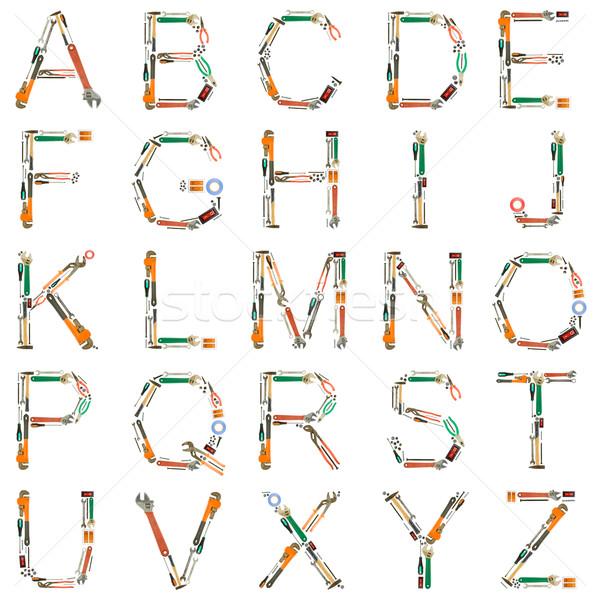 Tools Alphabet Stock photo © grafvision