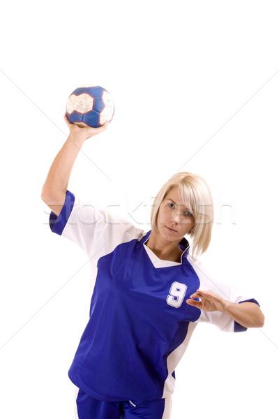 female handball player Stock photo © grafvision