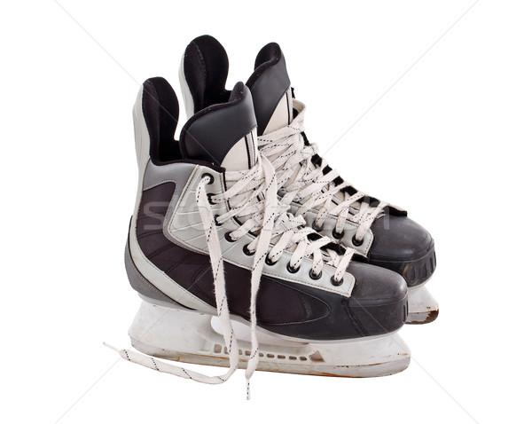 Stock photo: Pair of hockey skates