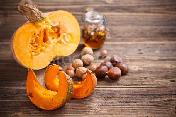 Roasted pumpkin slices Stock photo © grafvision