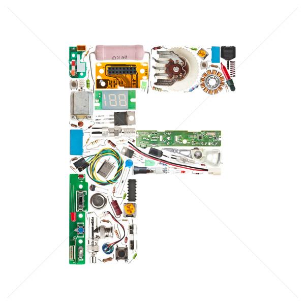 電子 コンポーネント 手紙 孤立した 白 ストックフォト © grafvision