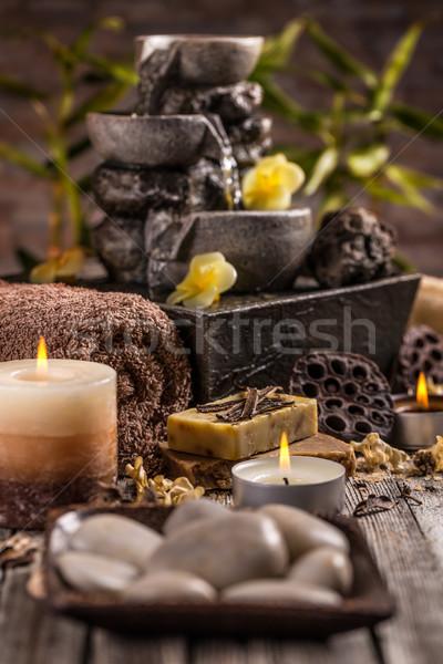 Trattamento termale relax sfondo tavola spa care Foto d'archivio © grafvision