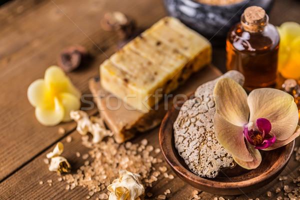 Brown dayspa nature set  Stock photo © grafvision