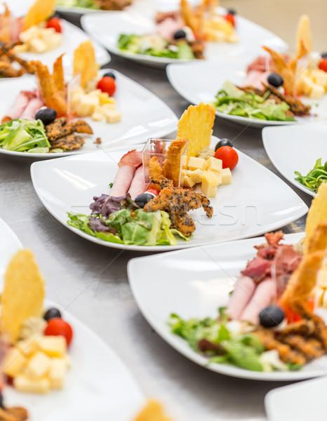 Aperitivo placas restaurante cocina espera servido Foto stock © grafvision