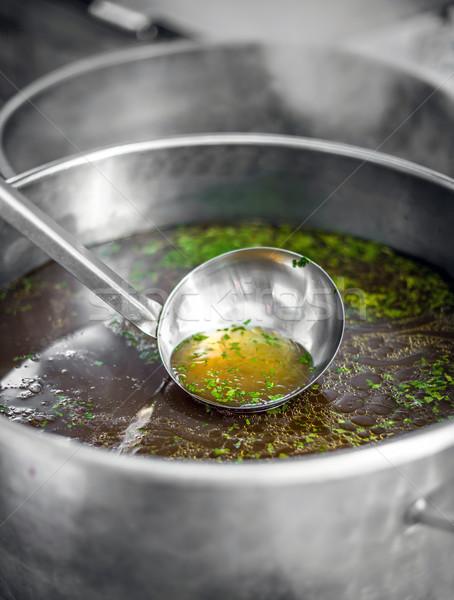 Chef at work Stock photo © grafvision