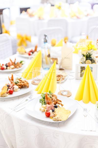 таблице назначение банкет продовольствие свадьба Сток-фото © grafvision