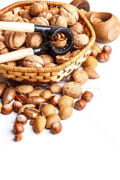 Nuts and nutcracker Stock photo © grafvision