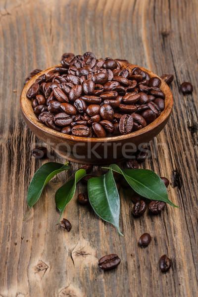コーヒー 穀類 木製 ボウル カフェ ストックフォト © grafvision