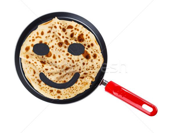 Smiling pancake Stock photo © grafvision