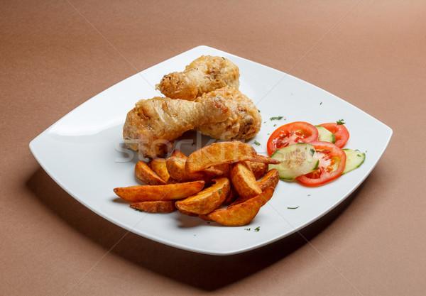 Grilled chicken drumsticks Stock photo © grafvision