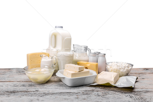 Assortment of dairy products Stock photo © grafvision