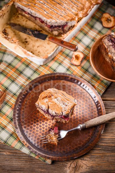 Pão pudim sobremesa doce caseiro bolo Foto stock © grafvision