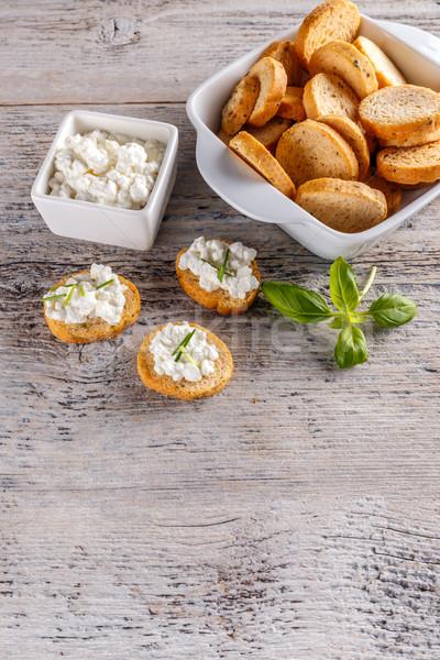 Photo stock: Fromage · cottage · blé · entier · déjeuner · alimentaire · fromages