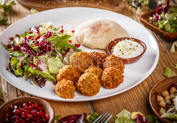 Traditional falafel patties Stock photo © grafvision