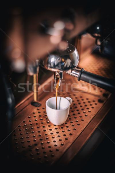 Profesyonel espresso makine güçlü bakıyor Stok fotoğraf © grafvision