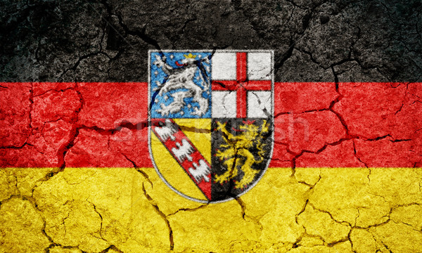 Saarland, state of Germany, flag Stock photo © grafvision