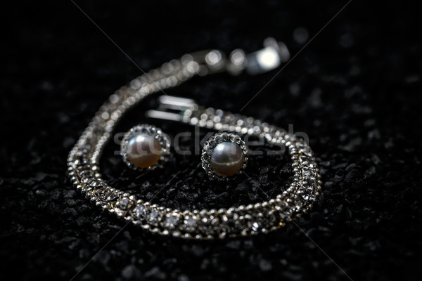Women necklace, bracelet and earrings Stock photo © grafvision