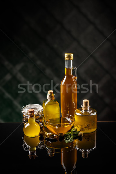 Healthy extra virgin olive oil Stock photo © grafvision