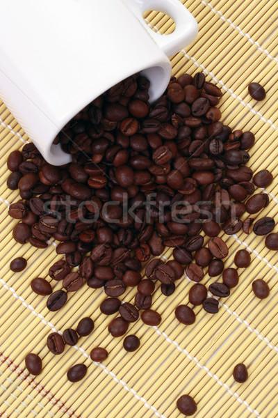 コーヒー コーヒーカップ コーヒー豆 竹 デザイン 背景 ストックフォト © grafvision