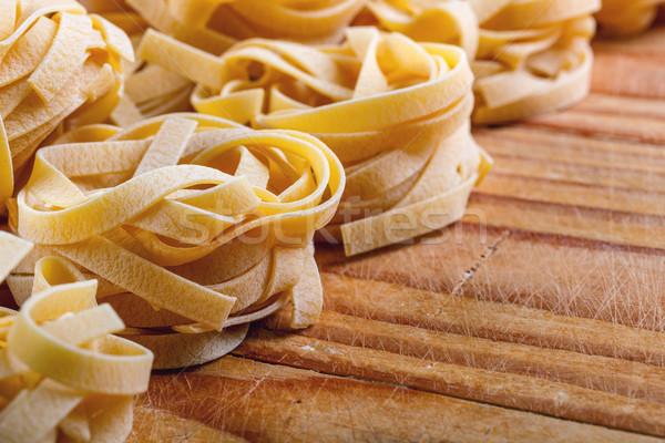 タリアテーレ 素朴な 木板 食品 デザイン 背景 ストックフォト © grafvision
