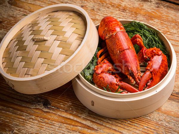 Fresh steamed lobster  Stock photo © grafvision