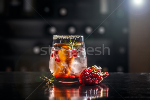 Pomegranate and orange cocktail  Stock photo © grafvision