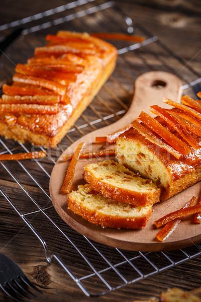 Owoców bochenek chleba pomarańczowy ciasto Zdjęcia stock © grafvision