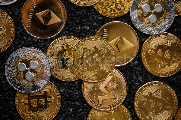 Set of cryptocurrencies Stock photo © grafvision