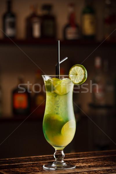 лимона коктейль свежесть воды стекла здоровья Сток-фото © grafvision