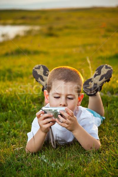 Preschooler boy Stock photo © grafvision