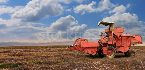 A red old combine Stock photo © grafvision