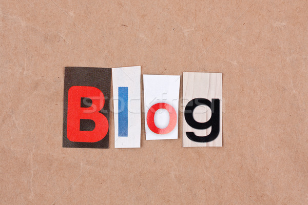 Блог письма знак письме пробка текста Сток-фото © grafvision