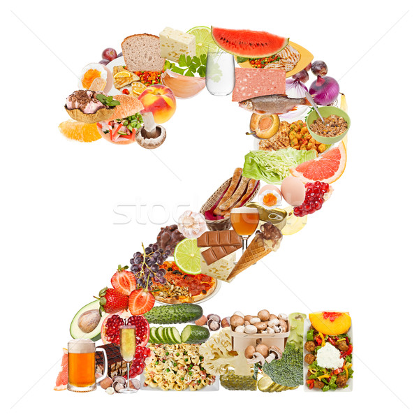 Number 2 made of food Stock photo © grafvision