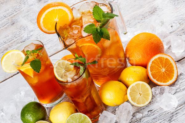 Refreshing ice tea Stock photo © grafvision