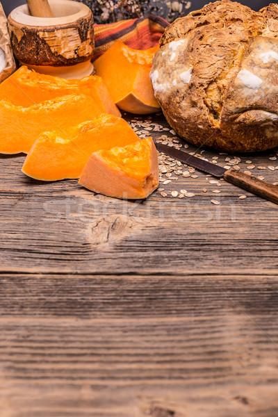 Pumpkin bread Stock photo © grafvision