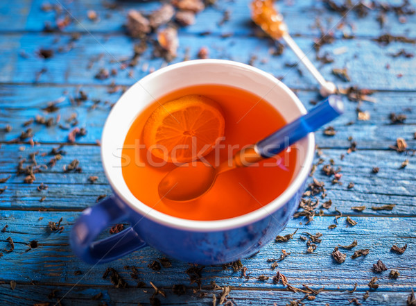 Cup with fresh herbal tea  Stock photo © grafvision
