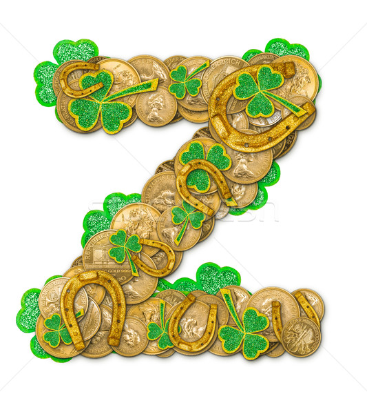 St. Patricks Day holiday letter Z Stock photo © grafvision